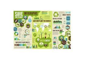节能环保循环可持续发展主题信息图表装饰插画