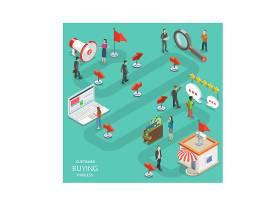 人物商务办公主题信息图表装饰插画