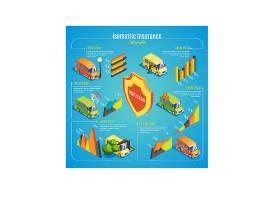 地质灾害主题信息图表装饰插画
