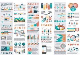 创意丰富多彩的流程图信息图表矢量设计