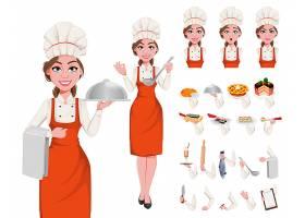 卡通女厨师