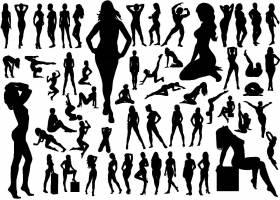 性感的女性人物剪影