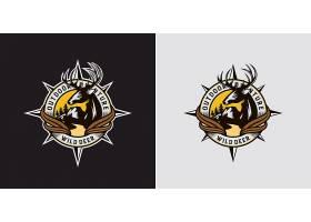 鹿头主题LOGO徽章图标设计