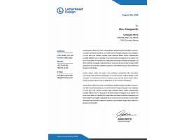几何图形元素简洁公司企业通用信纸信件模板