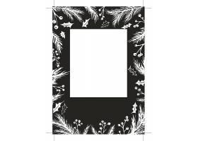 植物花卉工作证卡片背景设计