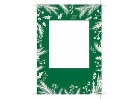 圣诞节元素工作证卡片背景