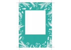 冬季圣诞节元素卡片名片工作证模板