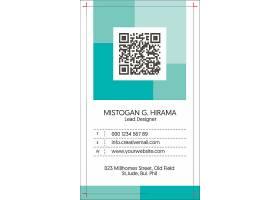 竖版个人名片工作证卡片设计