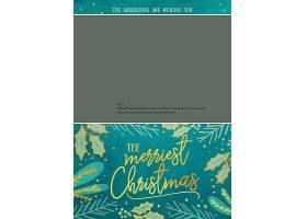 个性创意圣诞节主题明信片卡片背景