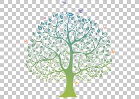 家谱团聚,细枝,植物茎,分支,花,木本植物,树,贴纸,叶,植物群,植物