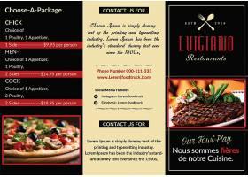 大气西餐食物料理餐牌宣传单外卖卡宣传折页模板