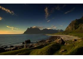 地球,海岸线,风景,山,风景优美的,海洋,悬崖,草,天空,云,壁纸,(1)