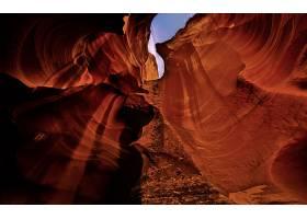 地球,羚羊,峡谷,峡谷,峡谷,洞穴,岩石,纹理,天空,风景,壁纸,