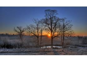 地球,日出,秋天,季节,自然,太阳,严寒,雾,壁纸,