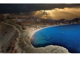 地球,日落,海岸线,云,风景,海洋,海,山,沙漠,阳光,壁纸,