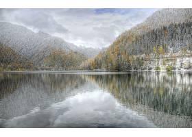 地球,反射,直接热轧制,冬天的,严寒,湖,风景,壁纸,