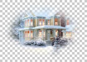 圣诞节和新年背景,财产,回家,立面,房地产,窗口,房子,标高,公寓,