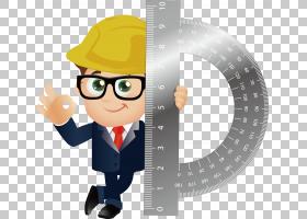 工程卡通,卡通,技术,专业,职业,漫画,建筑图纸,建筑工人,工程师,