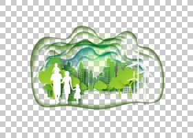 绿草背景,线路,文本,草,城市,自然环境,环境保护,生态城市,剪影,