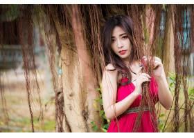 女人,亚洲的,女孩,妇女,模特,口红,红色,穿衣,黑色,头发,壁纸,