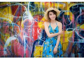 女人,亚洲的,女孩,涂鸦,帽子,妇女,模特,黑发女人,穿衣,壁纸,