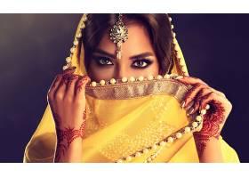 女人,模特,女孩,印度的,妇女,脸,珠宝,棕色,眼睛,黑发女人,壁纸,图片