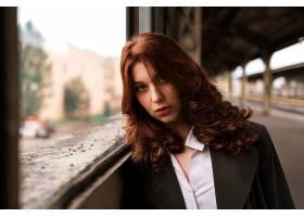 女人,模特,妇女,女孩,红发的人,深度,关于,领域,壁纸,(3)