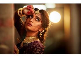 女人,模特,妇女,女孩,脸,印度的,珠宝,项链,棕色,眼睛,黑发女人,图片
