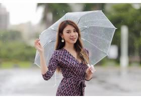 女人,亚洲的,女孩,雨伞,穿衣,妇女,模特,微笑,长的,头发,黑发女人图片