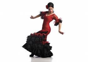 女人,黑发女人,妇女,女孩,舞蹈演员,弗拉门科民歌,红色,穿衣,壁纸