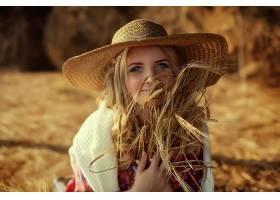 女人,模特,女孩,妇女,白皙的,蓝色,眼睛,帽子,壁纸,