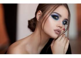 女人,模特,妇女,特写镜头,女孩,棕色,眼睛,化妆品,黑发女人,壁纸,
