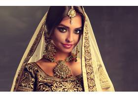 女人,模特,女孩,妇女,项链,印度的,耳环,珠宝,棕色,眼睛,壁纸,图片