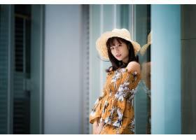 女人,亚洲的,妇女,模特,女孩,帽子,穿衣,黑色,头发,壁纸,