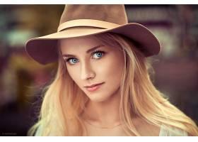 女人,模特,妇女,女孩,脸,白皙的,蓝色,眼睛,帽子,壁纸,