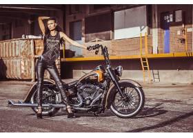 女人,女孩,摩托车,摩托车,习俗,摩托车,哈雷戴维森,雷自行车,海关