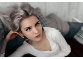 女人,模特,妇女,女孩,脸,蓝色,眼睛,白色,头发,壁纸,