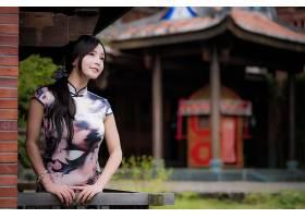 女人,亚洲的,女孩,妇女,模特,深度,关于,领域,和服,黑色,头发,长