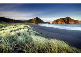 地球,海滩,风景,山,风景优美的,海洋,悬崖,草,天空,云,壁纸,