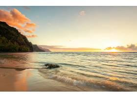 地球,海滩,风景,风景优美的,悬崖,海洋,沙,日落,天空,云,壁纸,