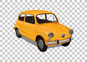 经典汽车背景,菲亚特600,城市汽车,车辆,座位600,黄色,模型车,保图片