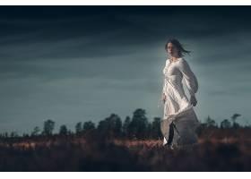 女人,情绪,女孩,白色,穿衣,妇女,模特,深度,关于,领域,壁纸,