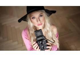 女人,模特,照相机,妇女,白皙的,帽子,女孩,过时的,照相机,壁纸,