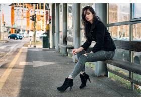 女人,模特,妇女,女孩,深度,关于,领域,高的,高跟鞋,黑色,头发,壁