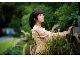 女人,亚洲的,妇女,模特,女孩,深度,关于,领域,黑色,头发,壁纸,