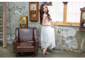 女人,亚洲的,妇女,模特,女孩,白色,穿衣,长的,头发,黑发女人,壁纸