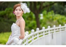女人,新娘,妇女,模特,女孩,白色,穿衣,深度,关于,领域,项链,婚礼,