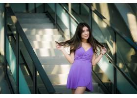 女人,亚洲的,妇女,模特,女孩,紫色,穿衣,黑发女人,长的,头发,壁纸