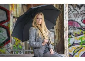 女人,模特,女孩,雨伞,白皙的,妇女,长的,头发,壁纸,图片