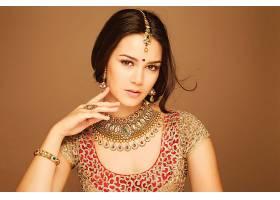 女人,模特,女孩,黑发女人,印度的,妇女,棕色,眼睛,珠宝,项链,壁纸图片